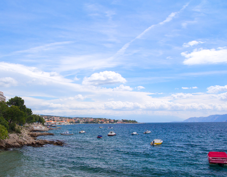 coastline: Coastline of croatian town Selce Stockfoto