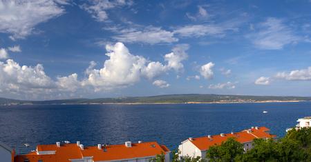 coastline: Coastline of croatian town Selce Stock Photo