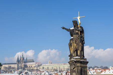 john the baptist: Sculpture of St. John the Baptist in Prague