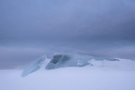 Transparente Eisschollen