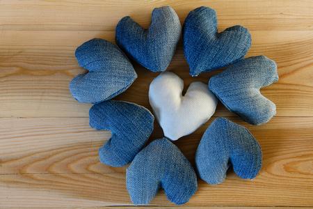 Heart shape denim Banco de Imagens