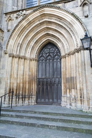 carved stone entrance to a cathedral or church
