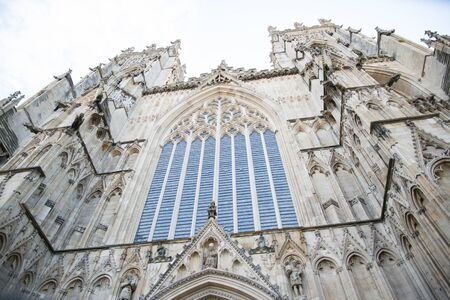 cleaned and restored stone window on York Minster cathedral Reklamní fotografie