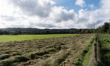a field newly mown on a country farm
