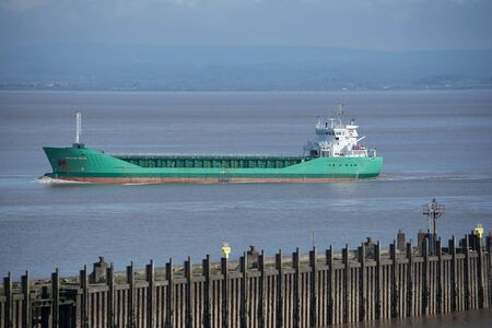 aggregate freighter Arklow Rock at sea in the Bristol Channel Editorial
