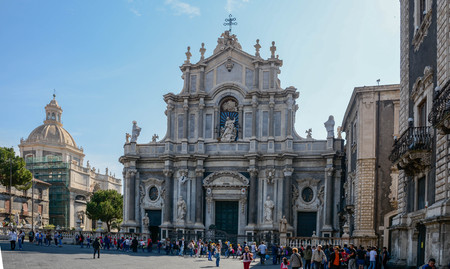 The Cathedral of St. Agatha in Catania Sicily rebuilt after an earthquake in 1669
