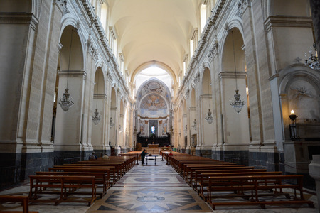 Inside the Cathedral of St. Agatha in Catania Sicily