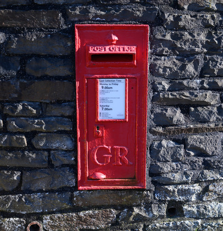 A King George V1 post box still in operation in the UK Editorial
