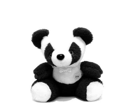 cute black and white panda toy Stock Photo