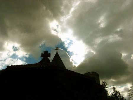 Storm Above Castle photo