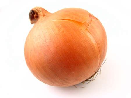 Onion over white background. Stock Photo