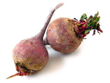 Red beet isolated on white.