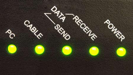 recive: Network Status Stock Photo