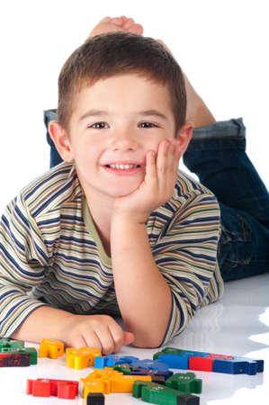 Cute Boy Isolated photo