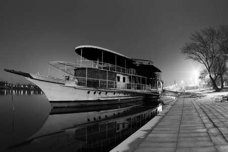 Dawn on the Sava River, Belgrade Stock Photo - 9736357