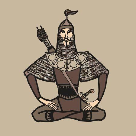 Asian nomad archer