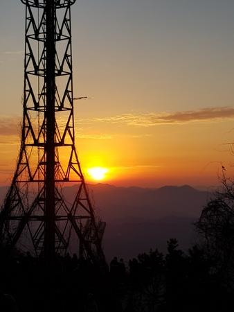 Iron Pagoda and Sunrise
