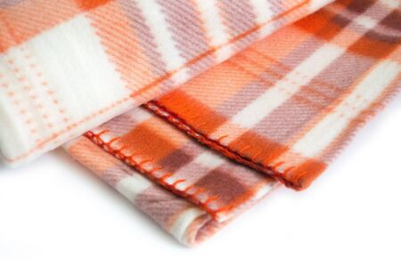 Plaid on a white background.