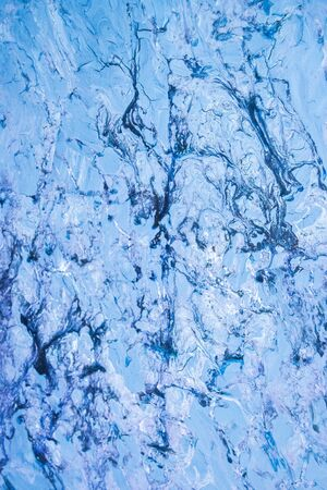 Paint strokes and stains blue abstract background Reklamní fotografie