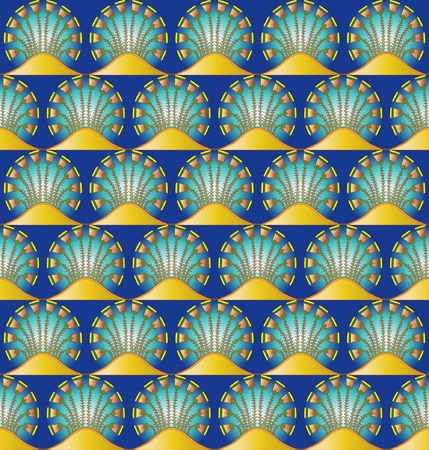 egyptian: An Egyptian style motif repeated into a seamless pattern. EPS10 vector format.
