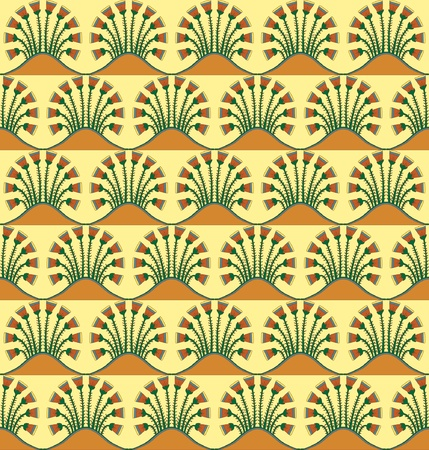 An Egyptian style motif repeated into a seamless pattern. EPS10 vector format. Vector