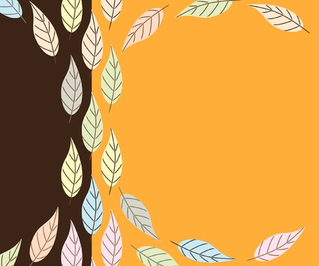 A background of Autumn leaves. Retro style with space for your text. EPS10 vector format. Stock Vector - 10308788