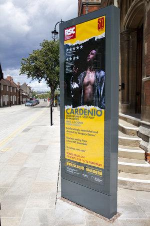STRATFORD-UPON-AVON - MAY 22: Billboard advertising the new prodution of Shakespeare Stock Photo - 10310606
