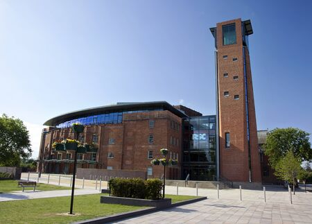 STRATFORD-UPON-AVON - MAY 22: The newly refurbished and reopened Royal Shakespeare theatre in Stratford, UK. The Royal Shakespeare Company is celebrating 50th Anniversary in 2011. 22 May 2011 Stock Photo - 10310601