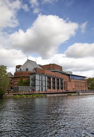 STRATFORD-UPON-AVON - MAY 22: The newly refurbished and reopened Royal Shakespeare theatre in Stratford, UK. The Royal Shakespeare Company is celebrating 50th Anniversary in 2011. 22 May 2011