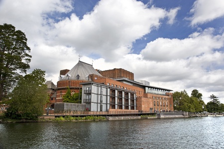 The Royal Shakespeare Theatre and Swan Theatre, home of the RSC, Straford-upon-Avon, UK. The RSC celebrates it Stock Photo - 10310603