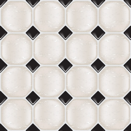 Marble tiles in natural tones, seamless. Vector