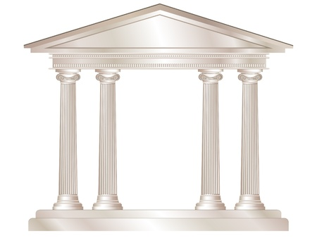 A vector illustration of a classical style white marble temple. EPS10 vector format Vector