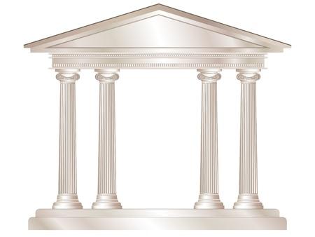 Een vector illustratie van een klassieke stijl wit marmeren tempel. EPS10 vector-formaat