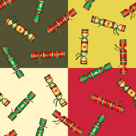 cracker: Christmas cracker seamless pattern. EPS10 vector format.