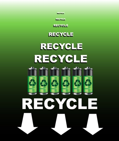 A poster for a battery recycling point. EPS10 vector format. Vector