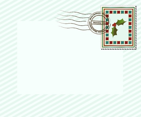 december 25th: A vintage style Christmas stamp with Merry Christmas, December 25th post mark. EPS10 vector format with space for your text.