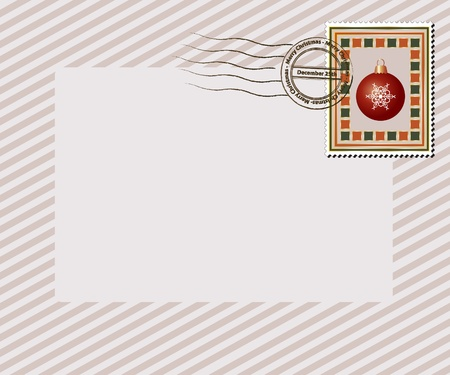 A vintage style Christmas stamp with Merry Christmas, December 25th post mark. EPS10 vector format with space for your text.