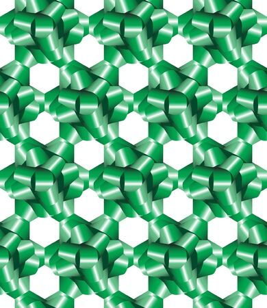 tessellate: A seamless background of green gift bows. EPS10 vector format