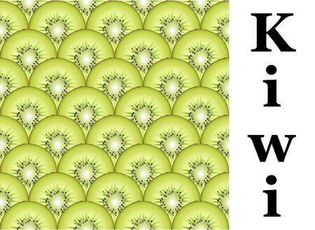 kiwi fruit: Un fondo transparente de kiwis en rodajas. Formato vectorial EPS10. Vectores