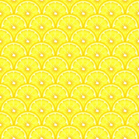 A  seamless background of sliced lemons. EPS10 vector format. Vector
