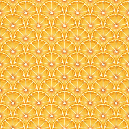 A seamless backround of sliced oranges. EPS10 vector format. Vector
