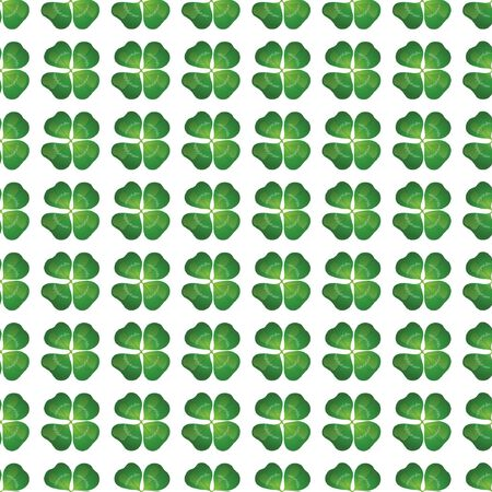 Four leaf clover seamless background. EPS10 vector format. Vector