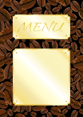 A template for a coffee shop menu. Space for your own text. Fully editible EPS10 vector format. Vector