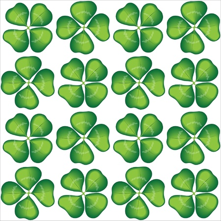 Four leaf clover seamless background. EPS10 vector format Vector