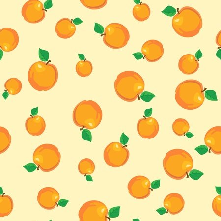 fruit stalk: A seamless background of peaches or apricots. EPS10 vector format