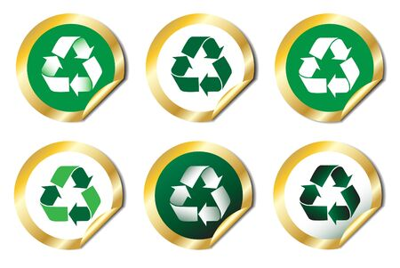 Recycle emblem stickers. EPS10 vector Vector