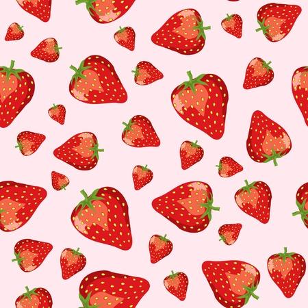 Un vecteur homogène de fraise mûre sur fond rose. EPS10.