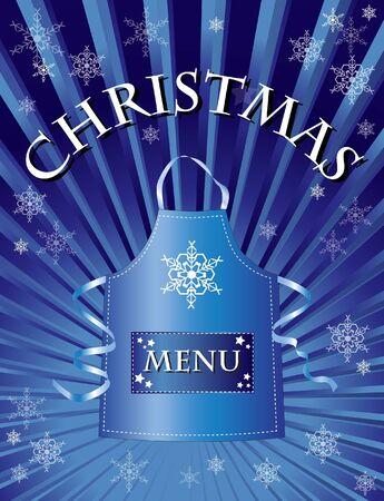 A menu template for a Christmas menu. Stock Vector - 10695123
