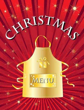 A menu template for a Christmas menu. Vector