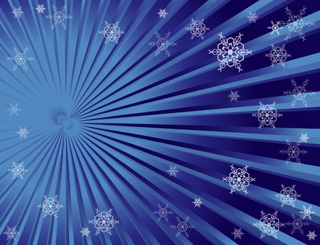 Christmas snowflake background with space for text.  Vector
